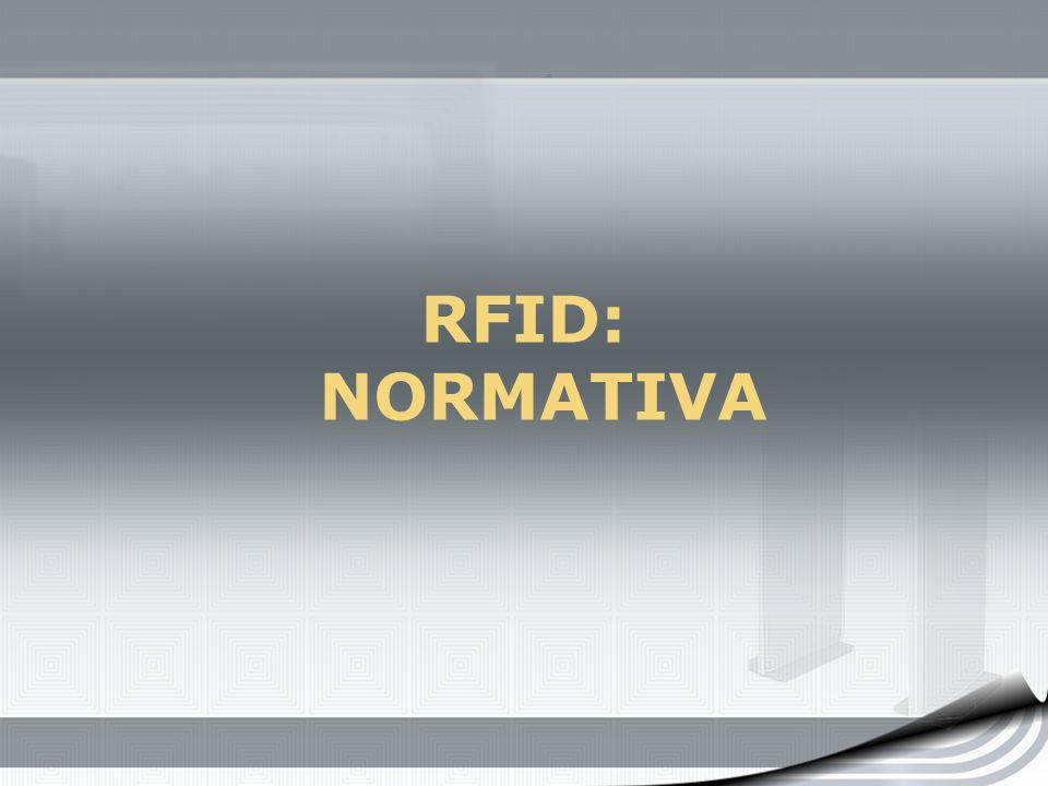 RFID: NORMATIVA
