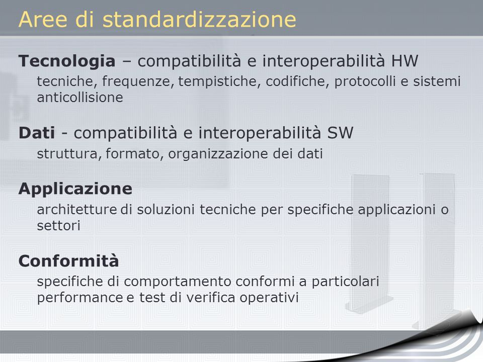 Aree di standardizzazione