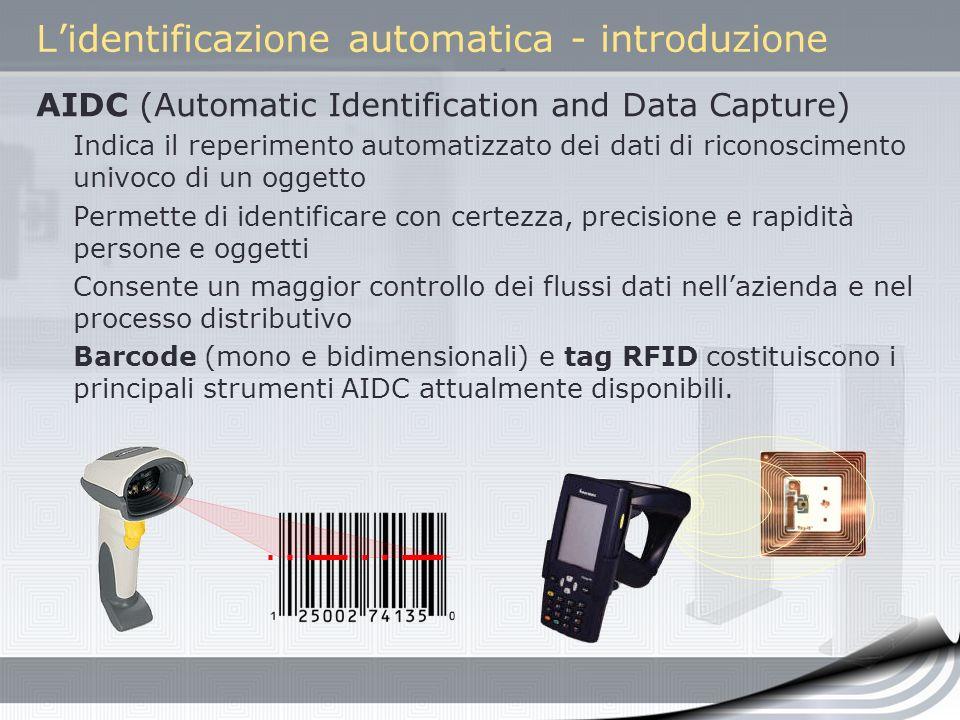 L'identificazione automatica - introduzione
