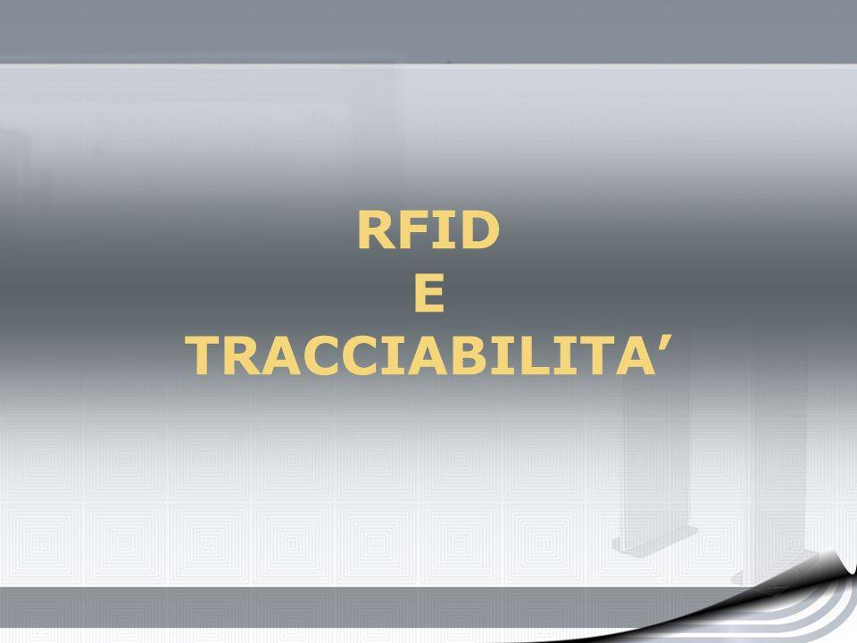 RFID E TRACCIABILITA'