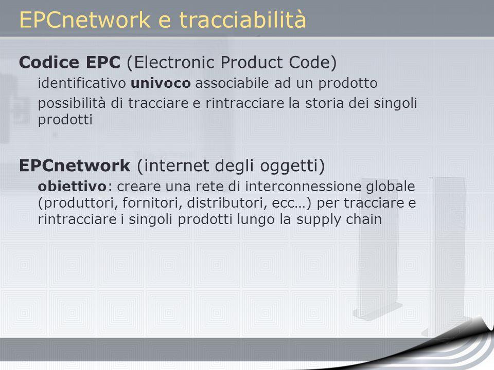 EPCnetwork e tracciabilità