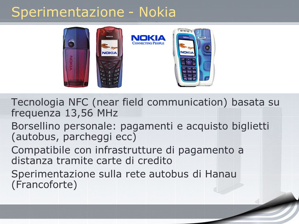 Sperimentazione - Nokia