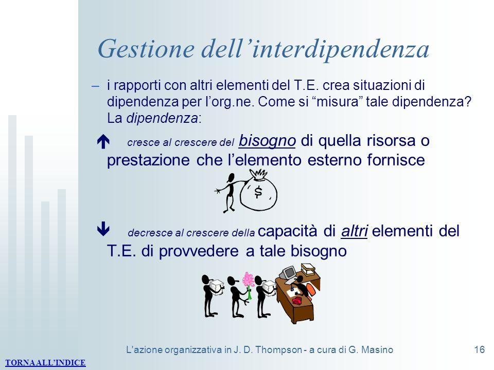 Gestione dell'interdipendenza