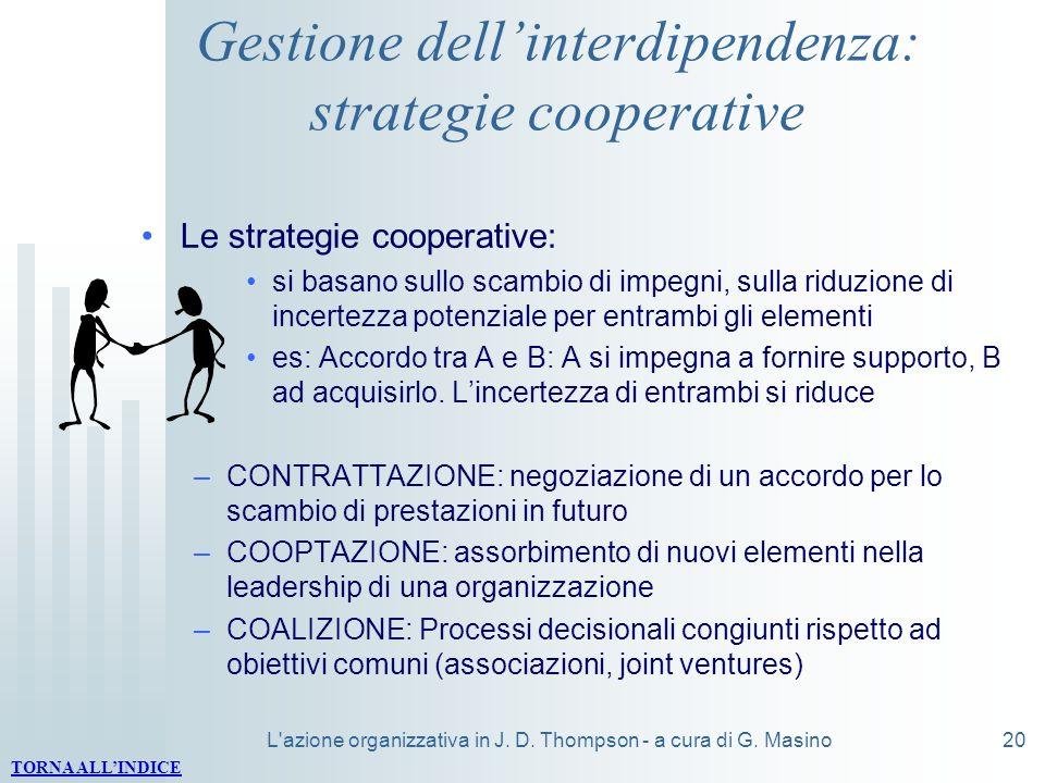 Gestione dell'interdipendenza: strategie cooperative