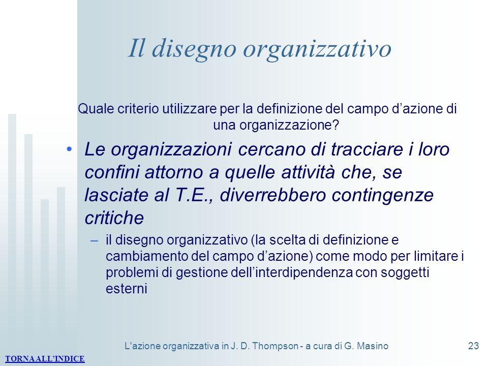 Il disegno organizzativo