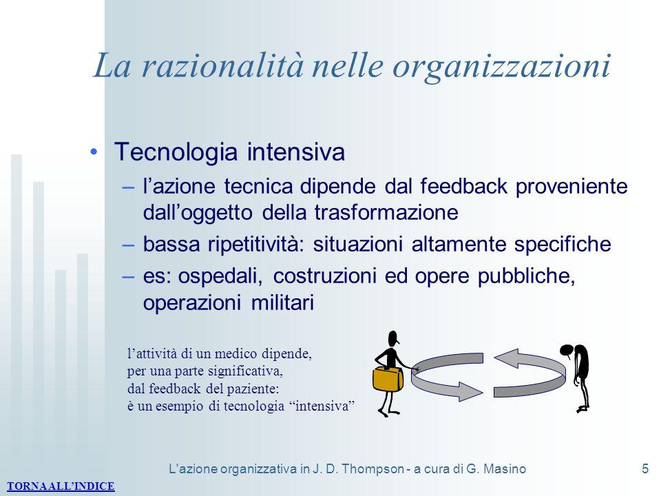 La razionalità nelle organizzazioni