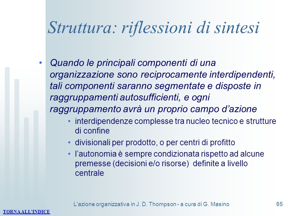Struttura: riflessioni di sintesi