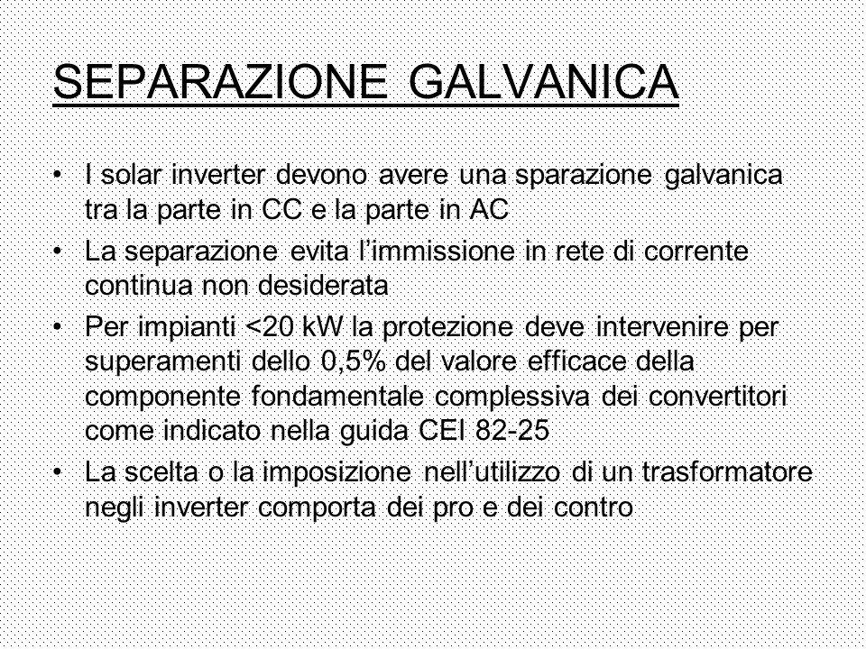 SEPARAZIONE GALVANICA