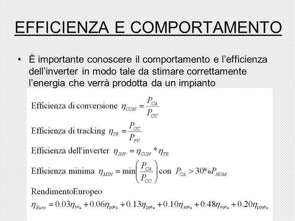 EFFICIENZA E COMPORTAMENTO