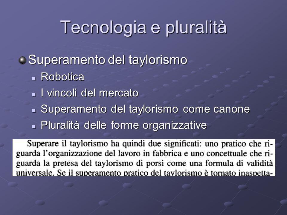Tecnologia e pluralità