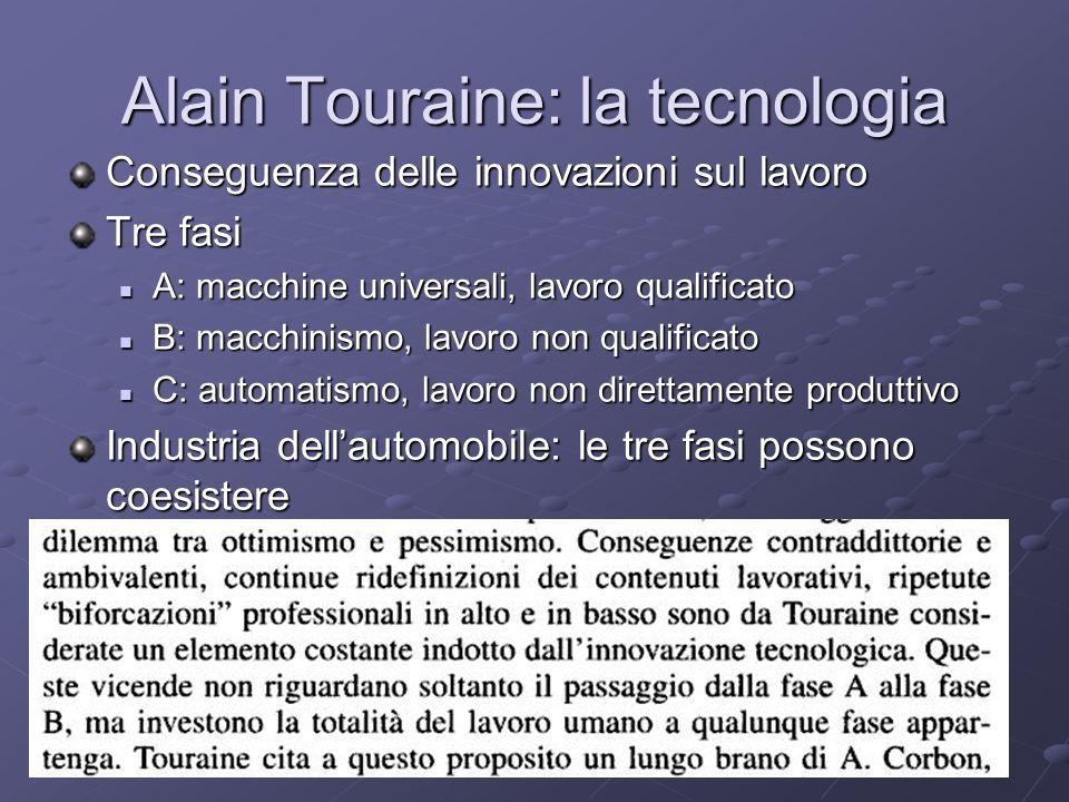 Alain Touraine: la tecnologia