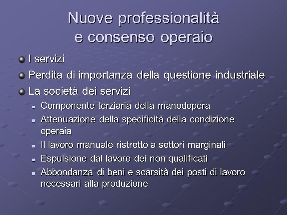 Nuove professionalità e consenso operaio