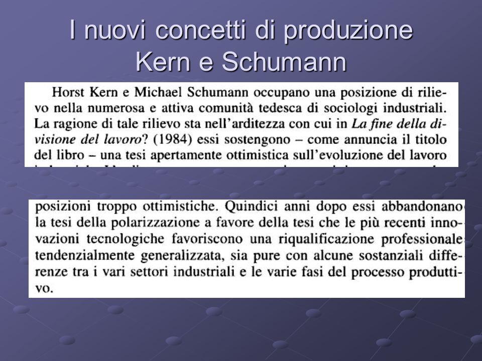 I nuovi concetti di produzione Kern e Schumann
