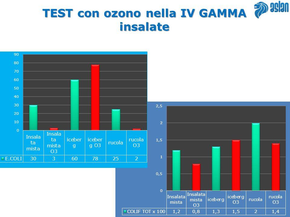TEST con ozono nella IV GAMMA insalate