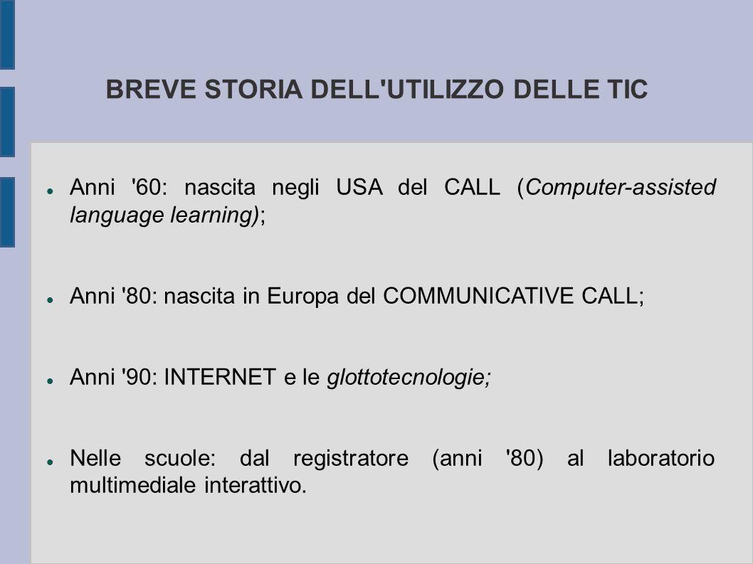 BREVE STORIA DELL UTILIZZO DELLE TIC