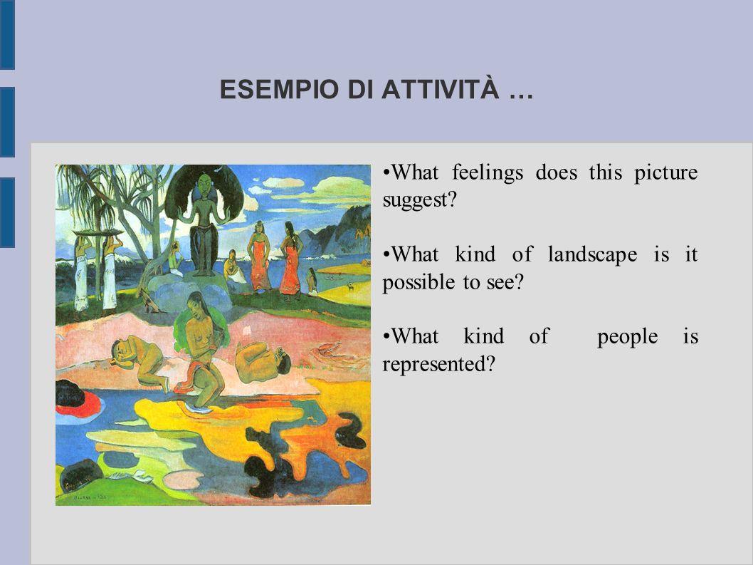 ESEMPIO DI ATTIVITÀ … What feelings does this picture suggest