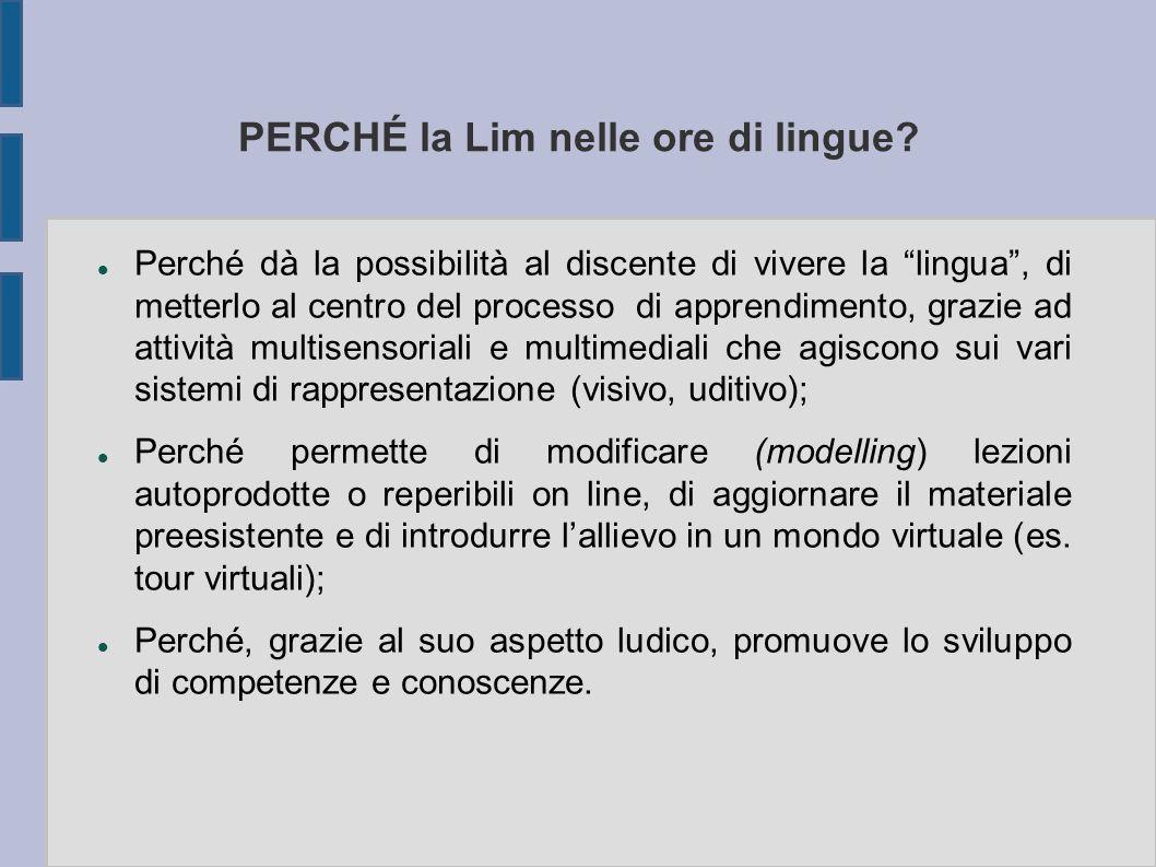 PERCHÉ la Lim nelle ore di lingue