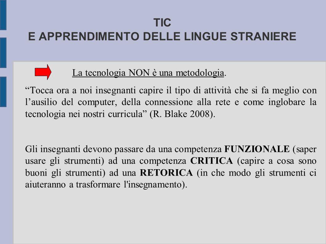 TIC E APPRENDIMENTO DELLE LINGUE STRANIERE