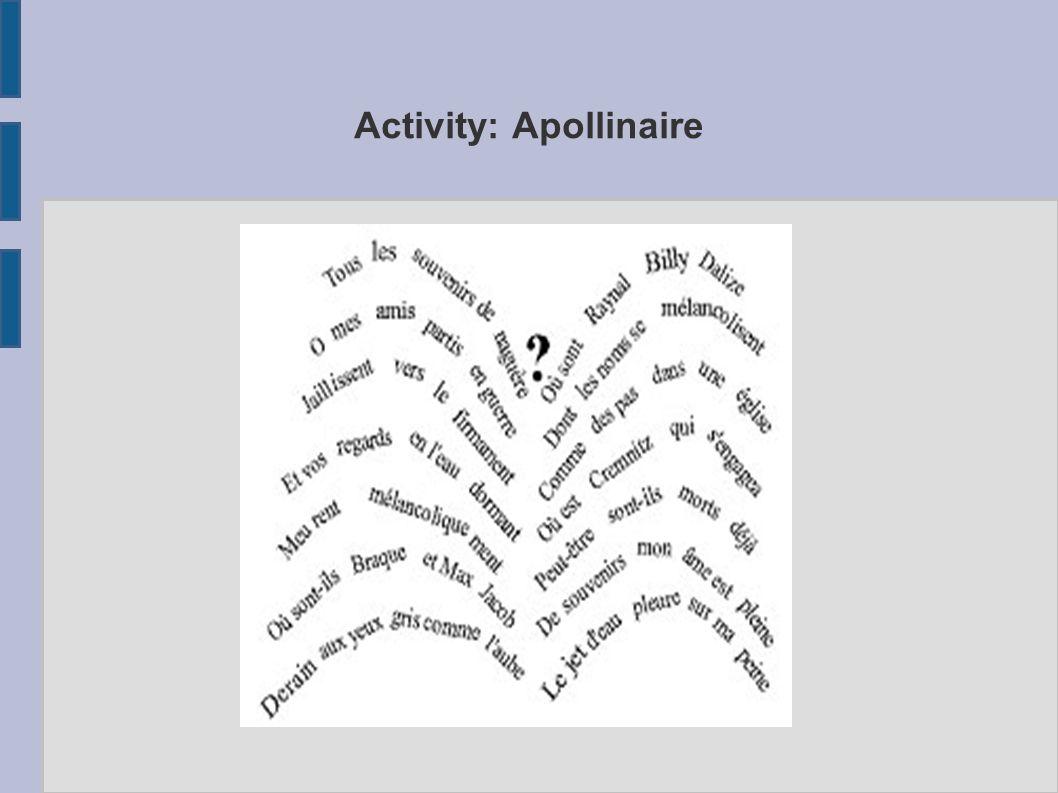 Activity: Apollinaire