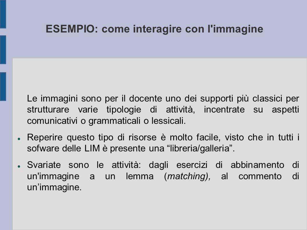 ESEMPIO: come interagire con l immagine