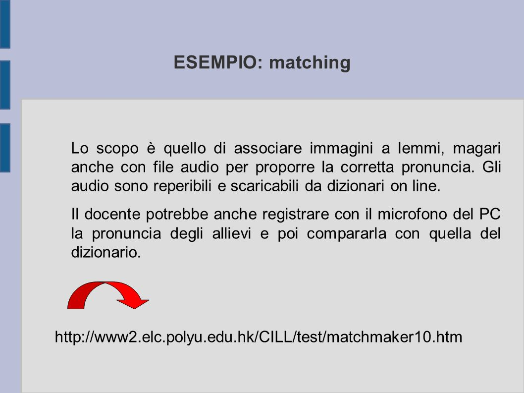 ESEMPIO: matching