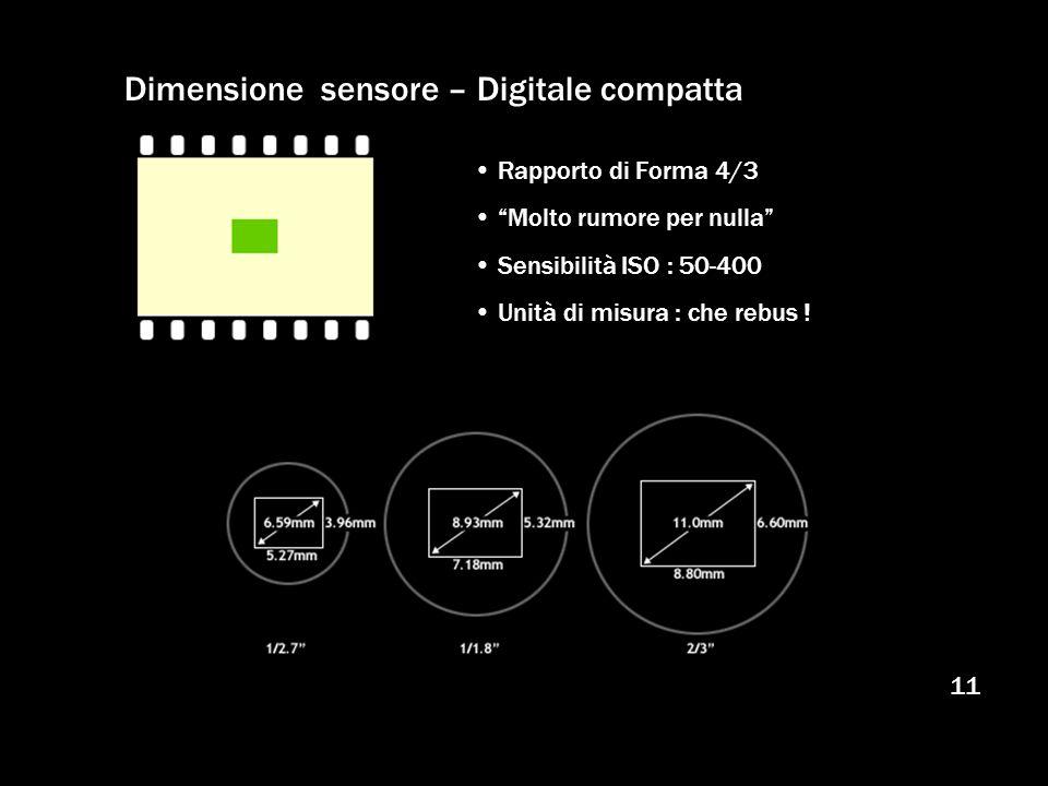 Dimensione sensore – Digitale compatta