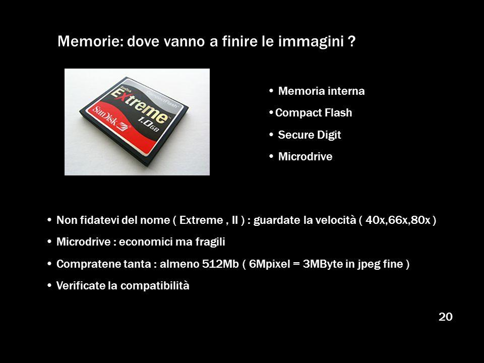 Memorie: dove vanno a finire le immagini