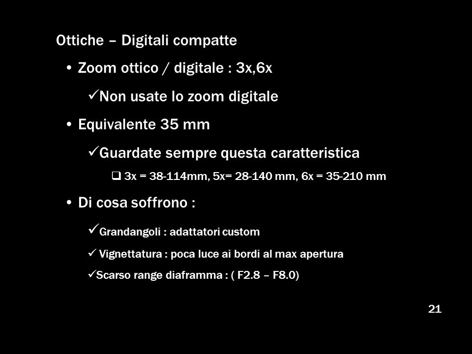 Ottiche – Digitali compatte