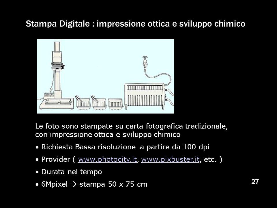 Stampa Digitale : impressione ottica e sviluppo chimico
