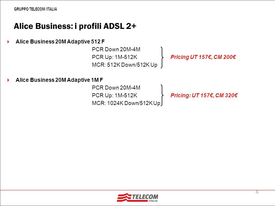 Alice Business: prestazioni opzionali di offerta