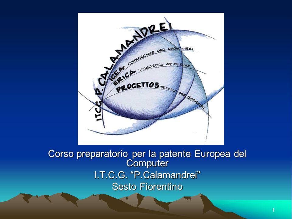 Corso preparatorio per la patente Europea del Computer