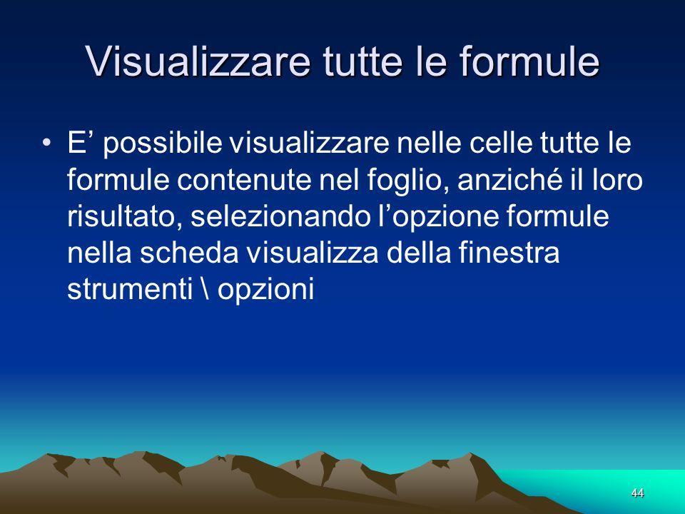 Visualizzare tutte le formule