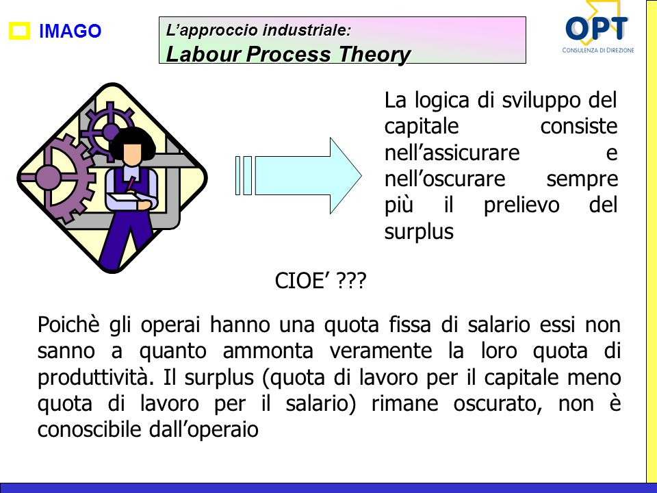 L'approccio industriale: