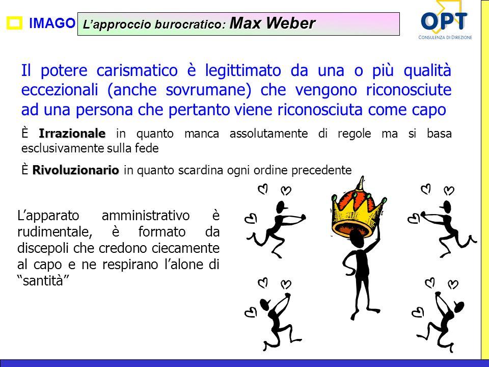 L'approccio burocratico: Max Weber