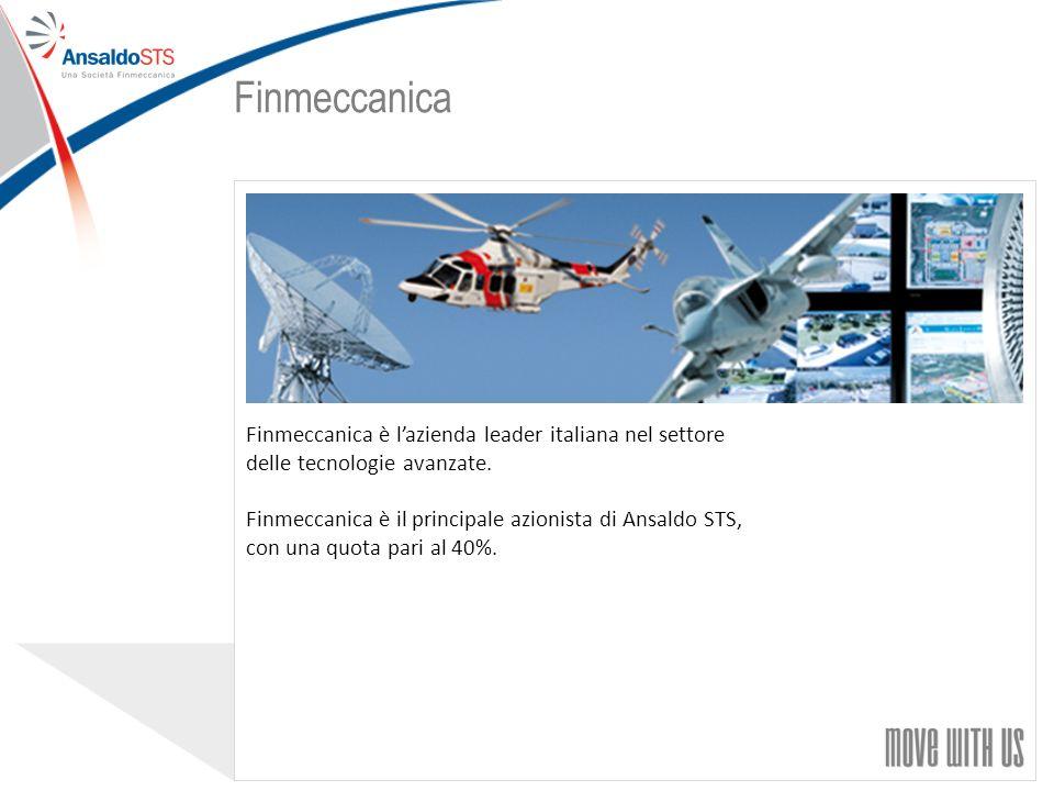 Finmeccanica Finmeccanica è l'azienda leader italiana nel settore