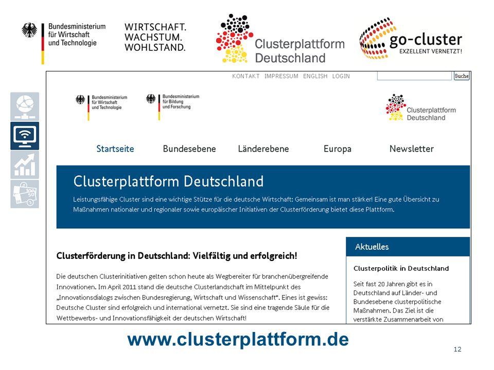 Modulo 2 – Piattaforma dei cluster in Germania