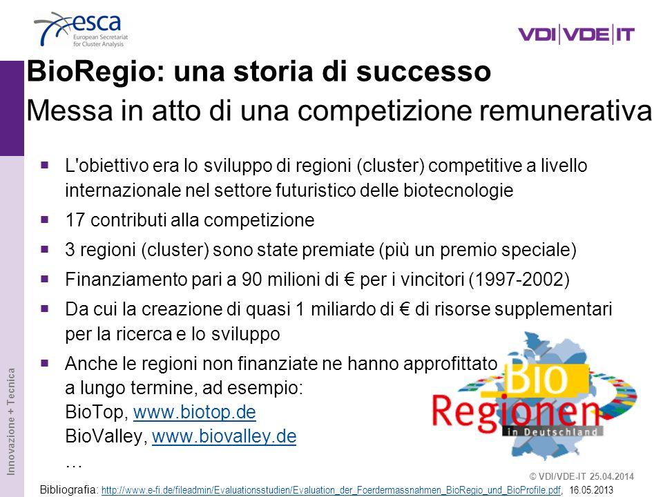 BioRegio: una storia di successo Messa in atto di una competizione remunerativa