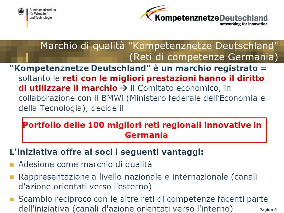 Portfolio delle 100 migliori reti regionali innovative in Germania