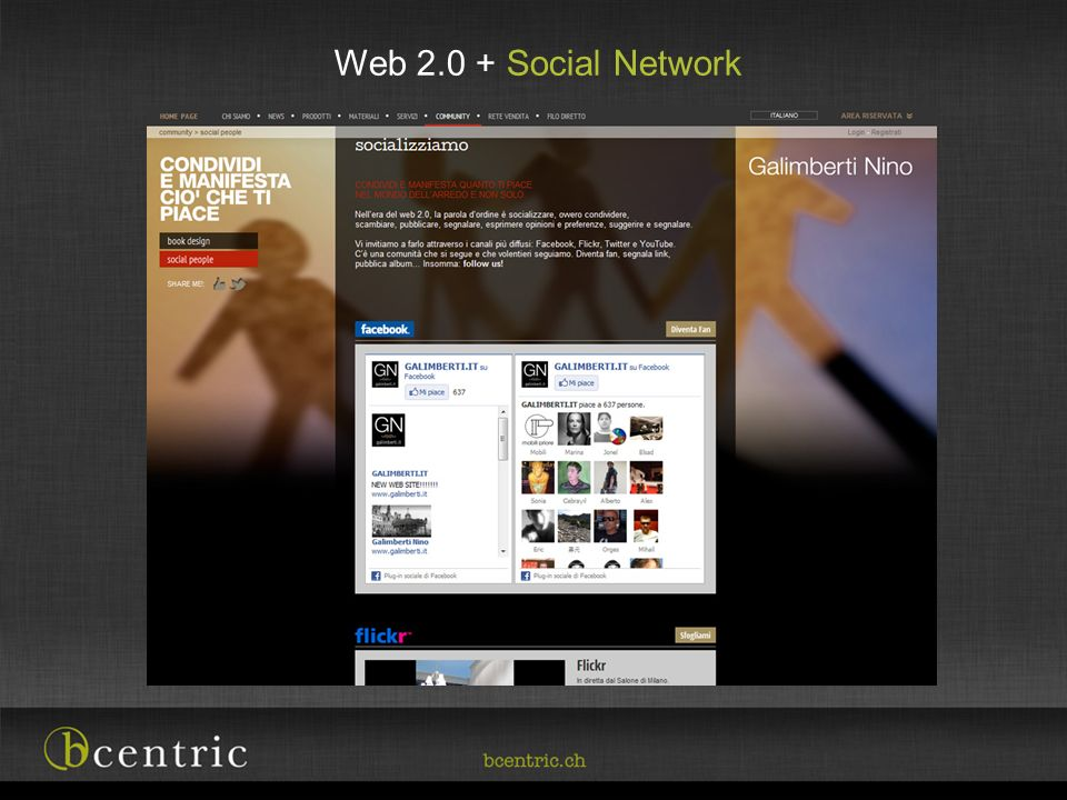 Web 2.0 + Social Network Parte importante del progetto
