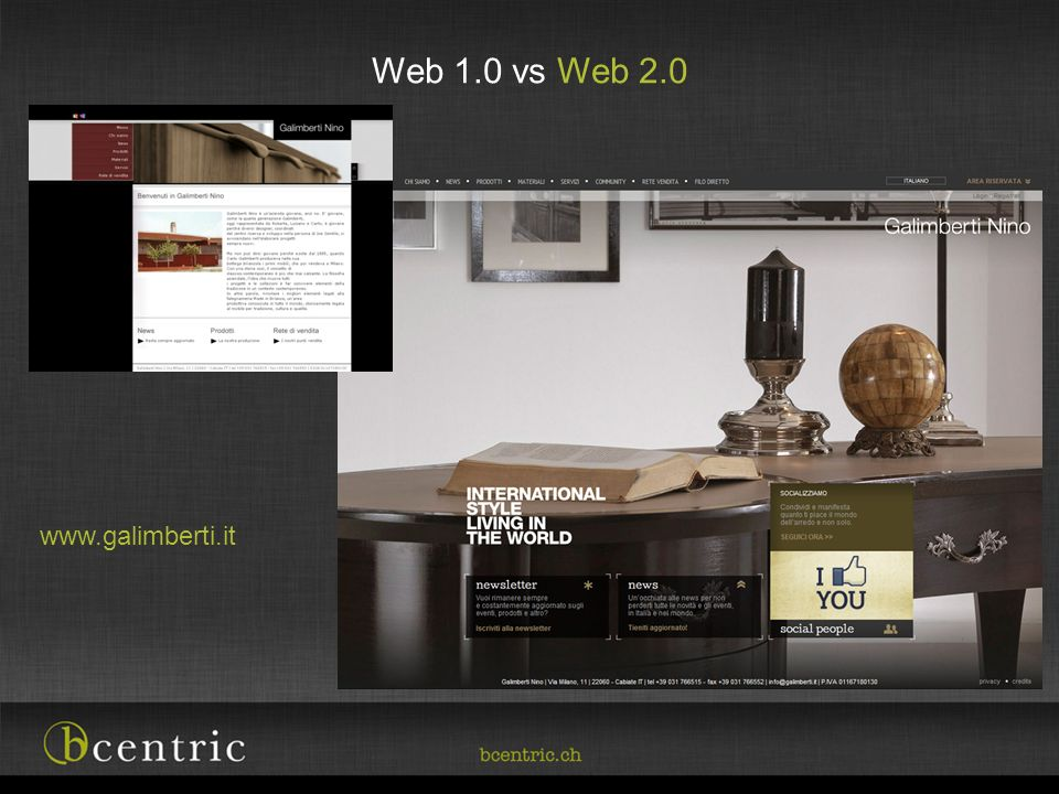 Web 1.0 vs Web 2.0 www.galimberti.it
