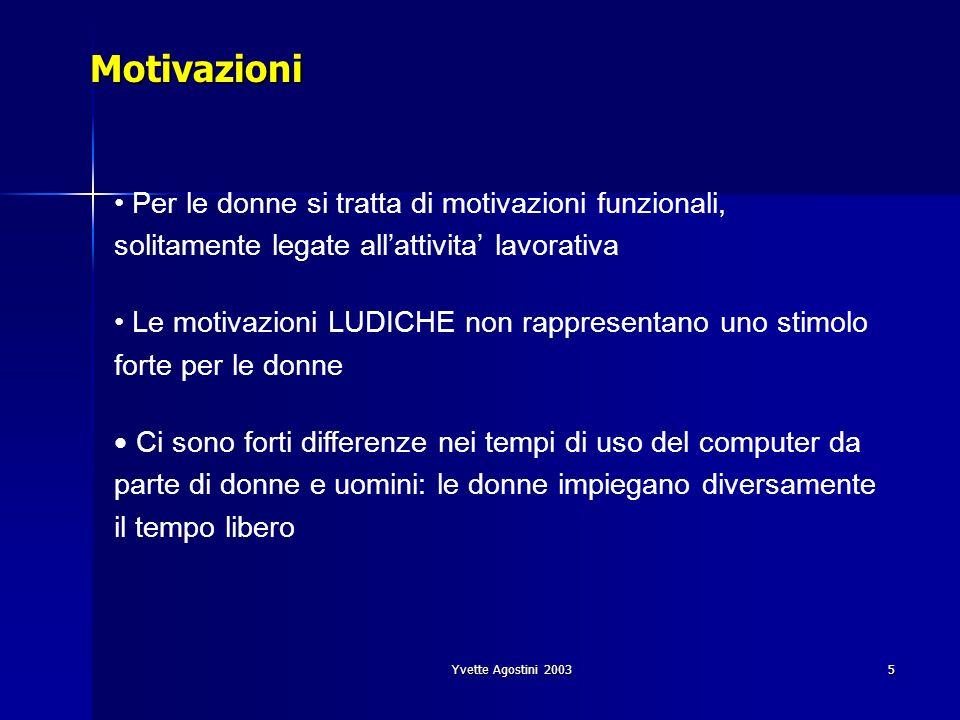 Motivazioni Per le donne si tratta di motivazioni funzionali, solitamente legate all'attivita' lavorativa.
