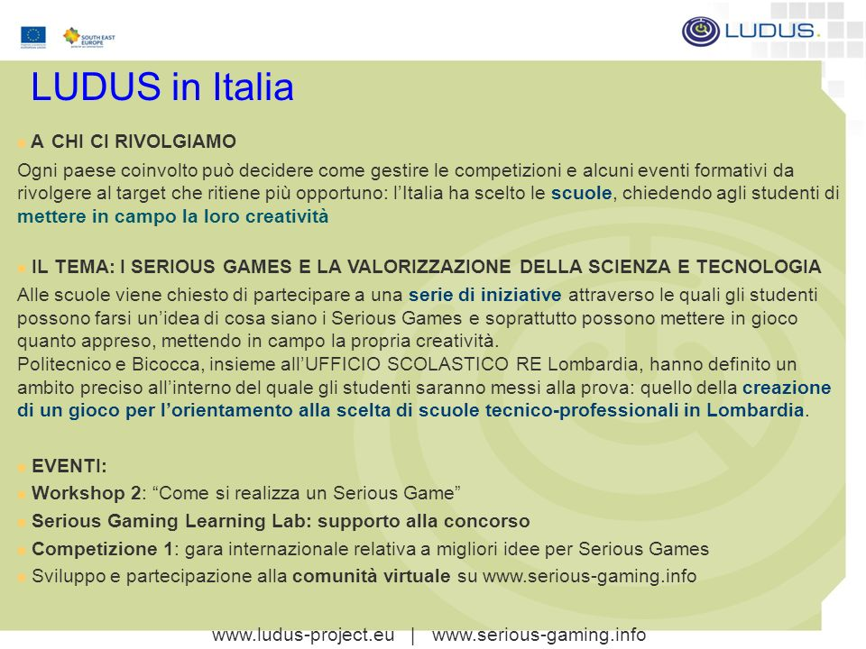 www.ludus-project.eu | www.serious-gaming.info