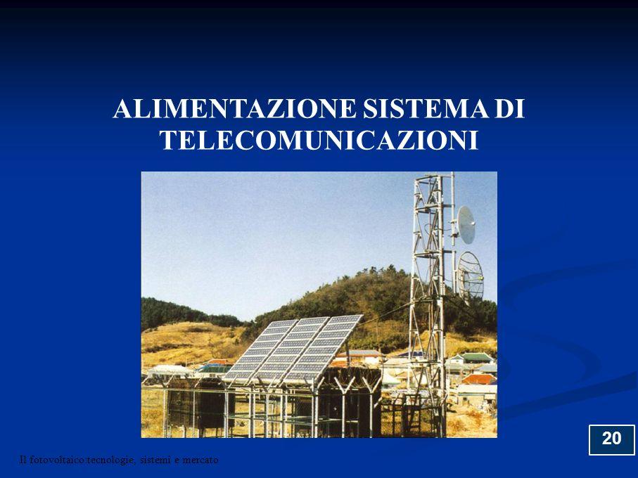 ALIMENTAZIONE SISTEMA DI TELECOMUNICAZIONI