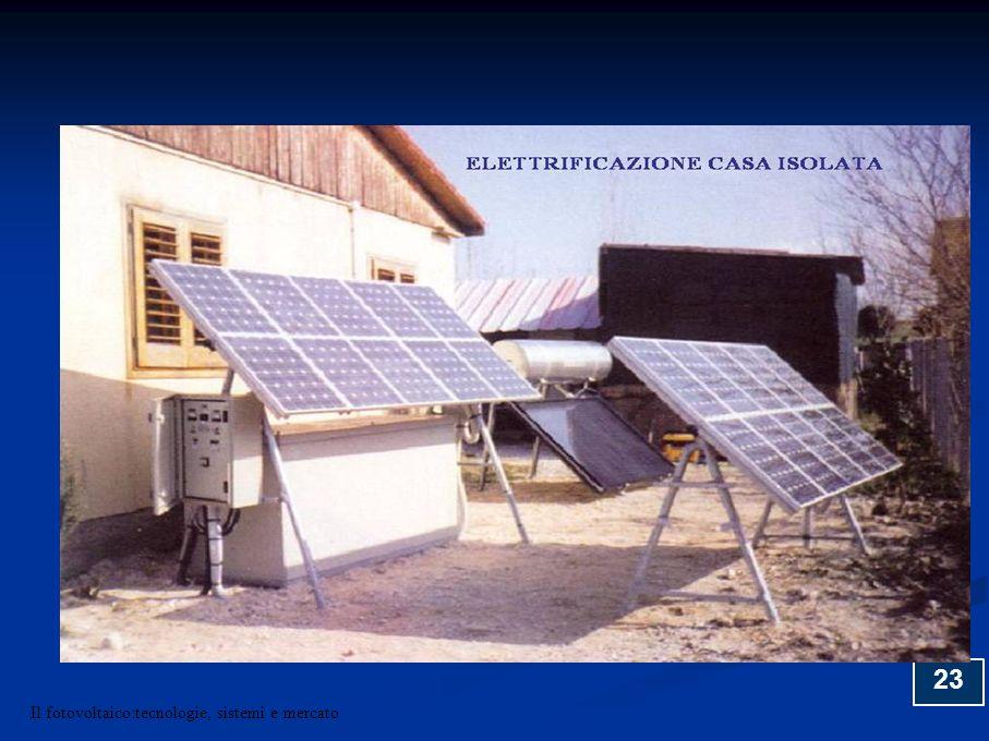23 Il fotovoltaico:tecnologie, sistemi e mercato