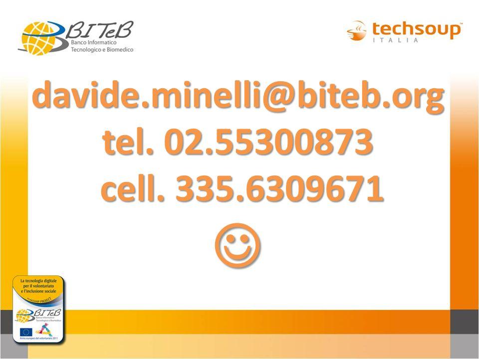 davide.minelli@biteb.org tel. 02.55300873 cell. 335.6309671 