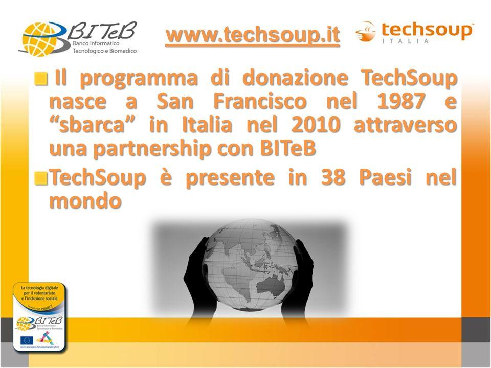 TechSoup è presente in 38 Paesi nel mondo