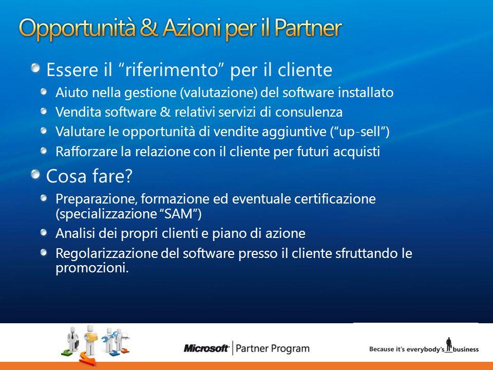 Opportunità & Azioni per il Partner