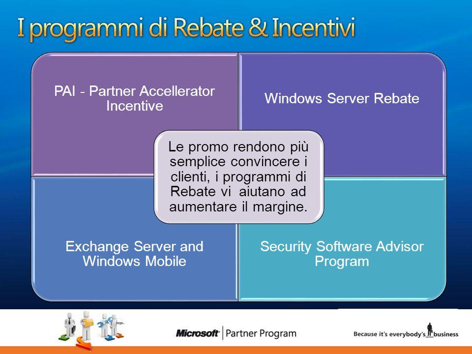 I programmi di Rebate & Incentivi