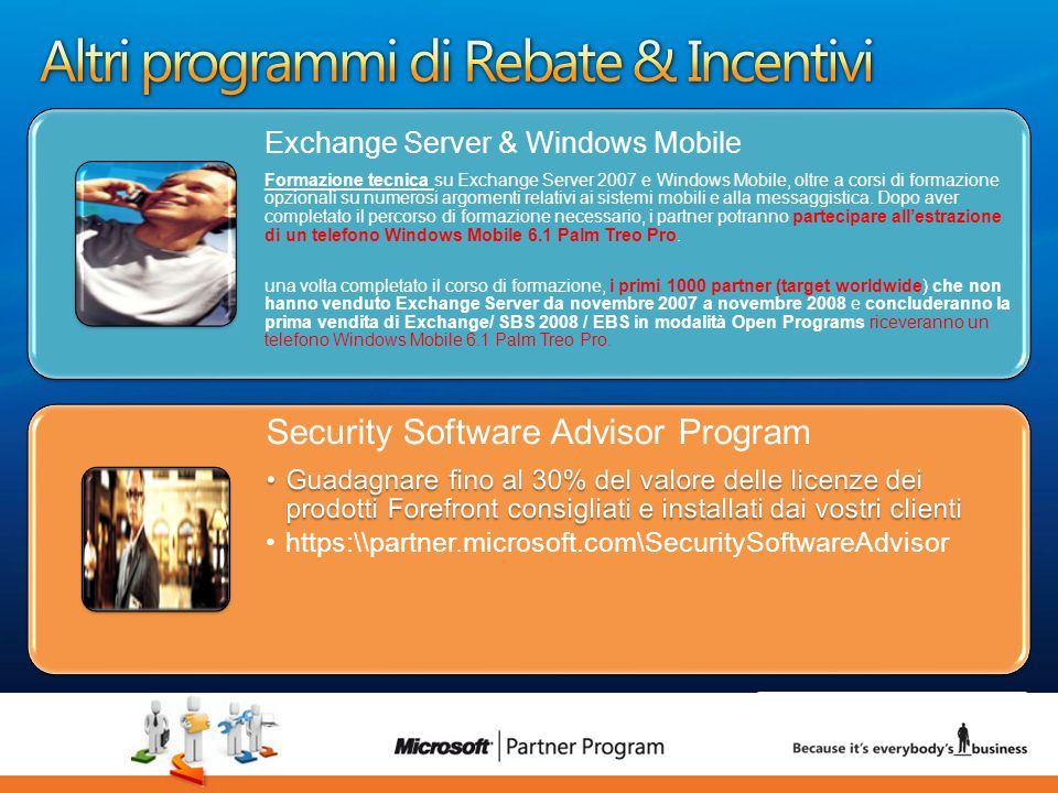 Altri programmi di Rebate & Incentivi