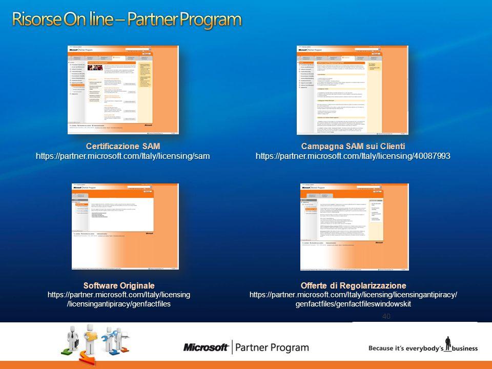 Risorse On line – Partner Program